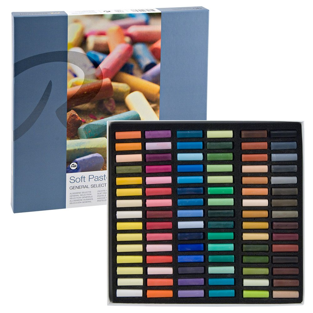 Rembrandt Soft Pastels Cardboard Box Set of 90 Half Sticks - Assorted Colors by Rembrandt/Talens