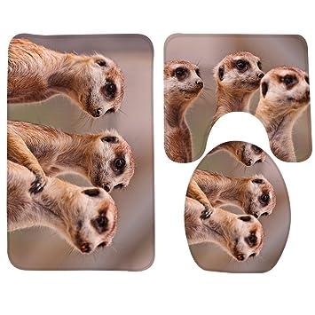 Redbeans Badematte Tiere Die Drei Braunen Erdmannchen