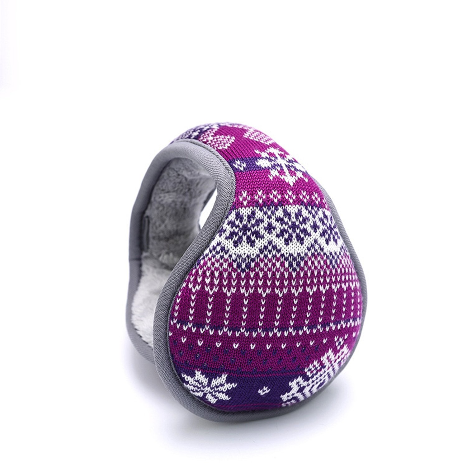 Outdoor Exposure and Thicken Earmuffs Ear Cover Unisex Foldable Ear Warmers Polar Fleece Winter EarMuffs Color Purple