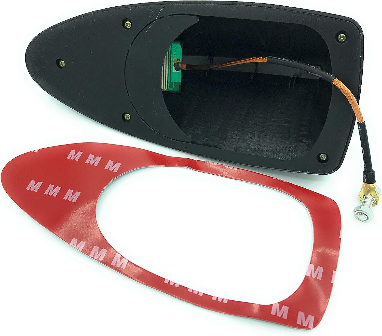 Plastique dur avec adh/ésif autoradio st/ér/éo anti-bruit Noir Antenne radio universelle en forme daileron de requin pour voiture Radio Am//FM