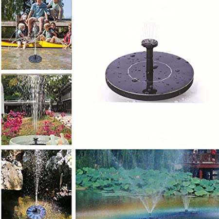 Outdoor Mini Solar Powered Floating Water Fountain for Garden Pool Pond Decor