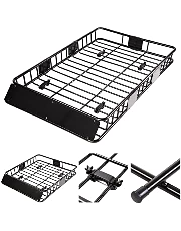 amazon cargo baskets cargo carriers automotive 24 FT Camping Trailers yes universal 64 roof rack car top cargo basket carrier with extension luggage holder