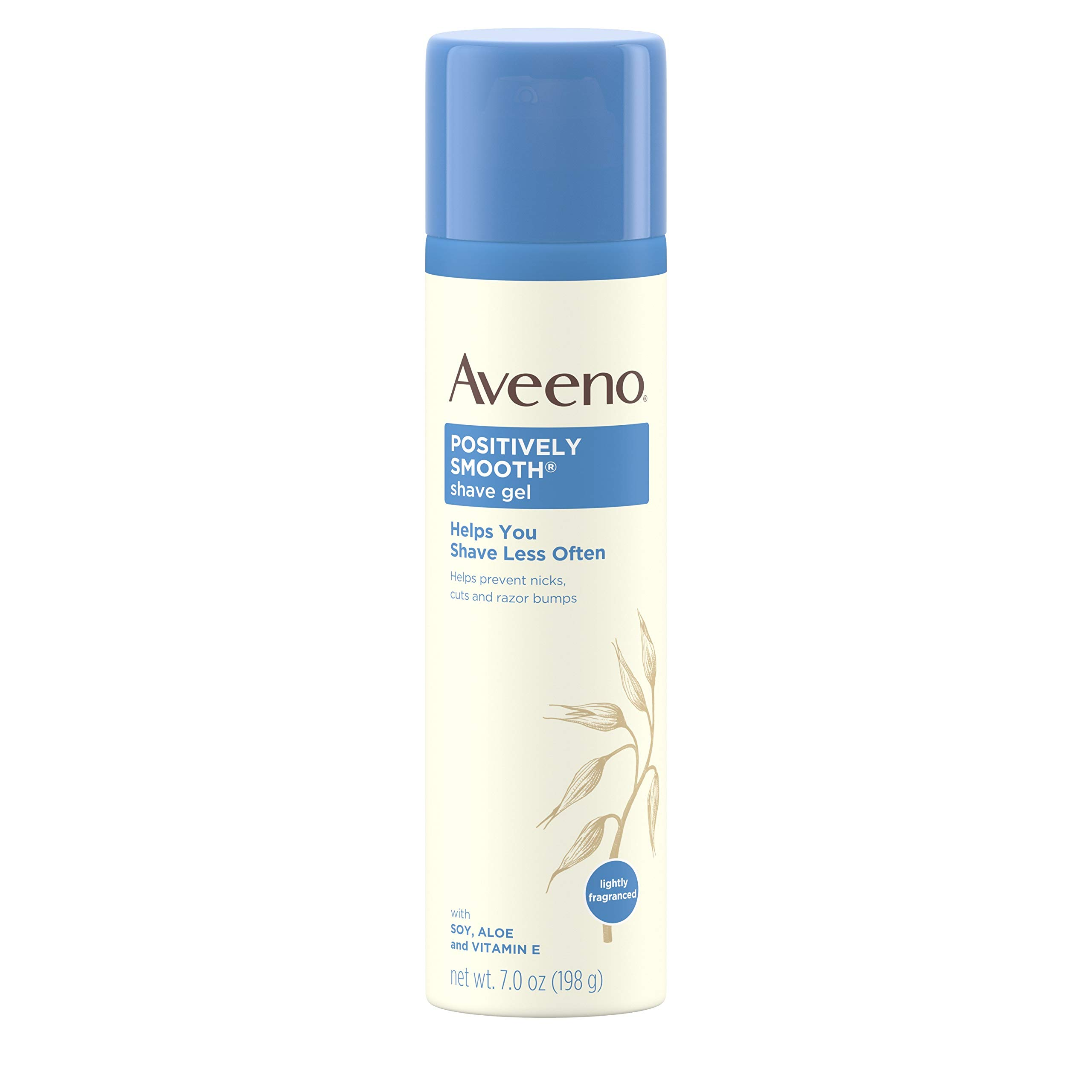 Aveeno Positively Smooth Moisturizing Shave Gel with Soy, Aloe, and Vitamin E to help Prevent Nicks, Cuts and Razor Bumps, Lightly Fragranced, 7 oz