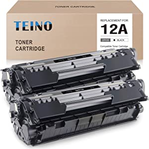 TEINO Compatible Toner Cartridge Replacement for HP 12A Q2612A for HP Laserjet 1020 1010 1012 1018 1022 3015 3030 3050 3055 3020 1022n 3052 M1005 M1319f MFP (Black, 2 Pack)