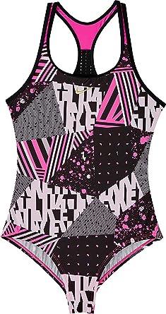 97dbb7314de17 Amazon.com: Nike Girl`s Core Racerback Tank 1-Piece Swimsuit: Clothing