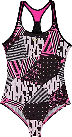 0223ba92ff0 Nike Kids Girl's Core Solid Racerback Tank (Little Kids/Big Kids) Black 14