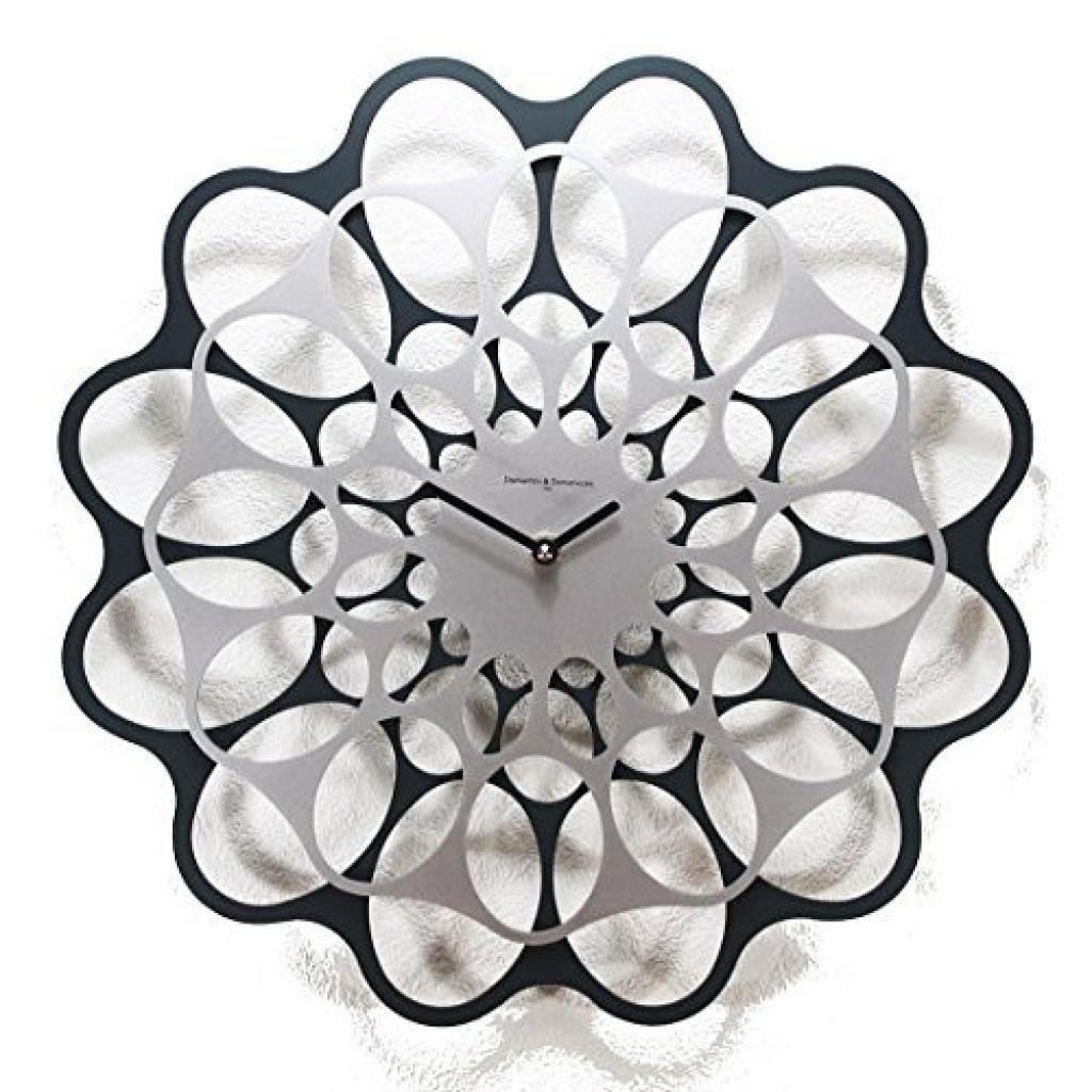 Diamantini&Domeniconi デザイナーズクロック「&」 (ダークグレー&アルミニウム) B010FXSAM6 ダークグレー&アルミニウム ダークグレー&アルミニウム