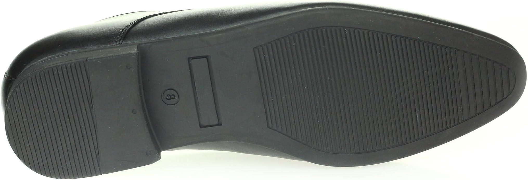 AARZ LONDON Hommes Gents Intelligent Talon cubain Soir Mariage F/ête Bureau Travail Formel Cuir Enfiler Chaussures Taille
