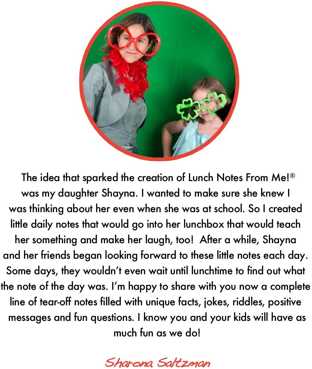 Lunch Notes From Me 101 tear-off lunchbox notes that make lunch fun. Riddles /& Giggles