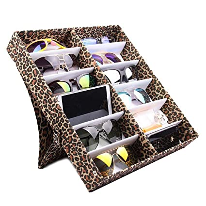 49747df24 Image Unavailable. Image not available for. Color: 12 Pcs Glasses Storage  Display Case Box Eyeglass Sunglasses Optical Display Organizer Frames Tray  ...