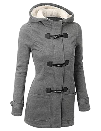 BYD Mujeres Espesar Hoodie Chaquetas Sudaderas con Capucha Encapuchada Abrigo con Horn Botones Jacket Cardigans Tops: Amazon.es: Ropa y accesorios