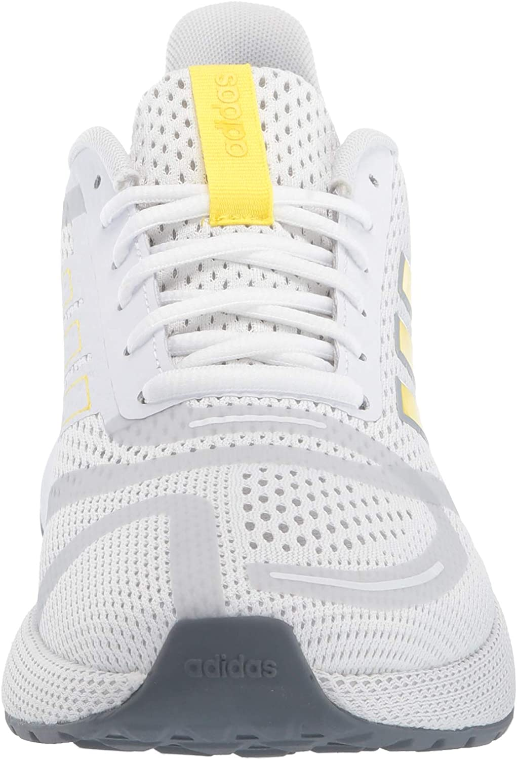 adidas Men's Nova Running Shoe Ftwr White/Shock Yellow/Glory Green