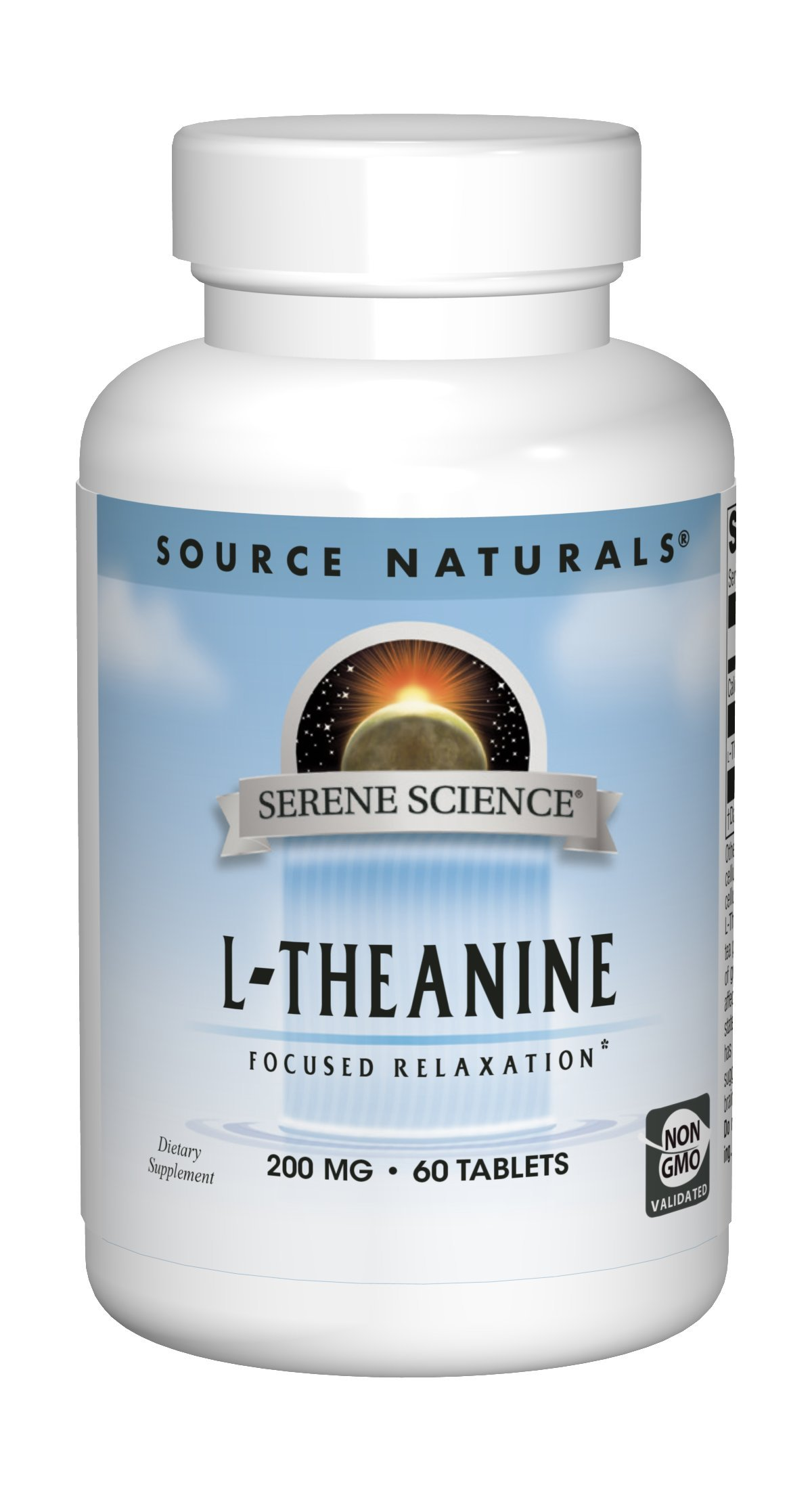 Source Naturals Serene Science L-Theanine 200mg Anti-Anxiety Supplement - 60 Capsules
