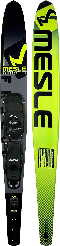 MESLE Monoski Freecarve 69 mit D3 Leverage Blackout Bindung Slalom Ski bis 120 kg L/änge 175 cm gr/ün Tunnel Wasser-Ski f/ür ambitionierte Slalom-Fahrer mit Aluminium Finne