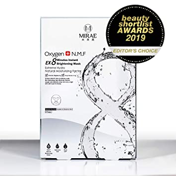 81db352f33a7 MIRAE Beauty 8 Minutes Brightening Facial Sheet Mask - Hypoallergenic  Essence for Lightening,...