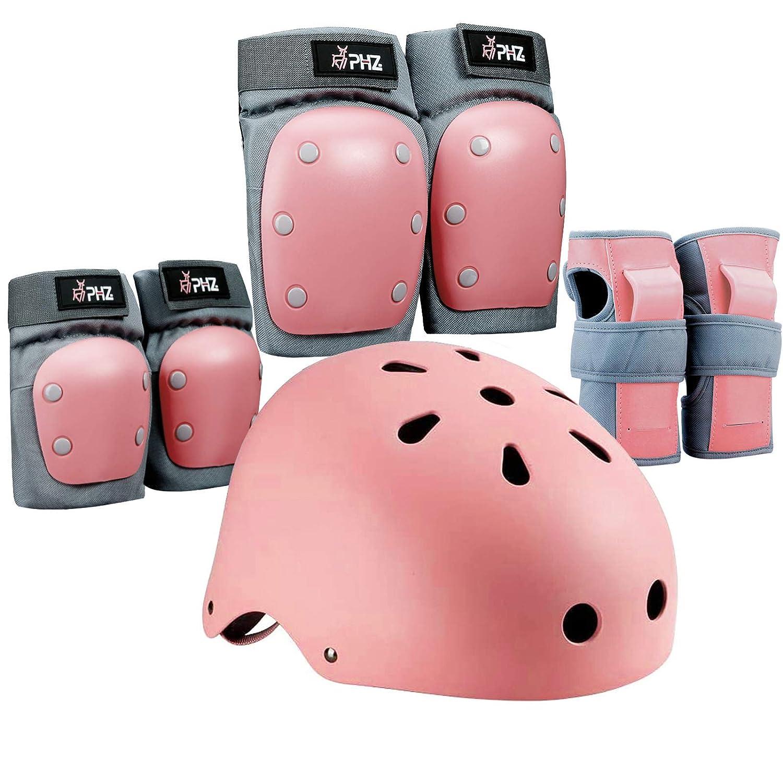 YUFU Kids Protective Gear Set Adjustable Helmet with Sports Knee Elbow Wrist Pads for Toddler Boys Girls Bike Bicycle Skateboard Hoverboard Rollerblading Helmet for Kids 3-13 Years