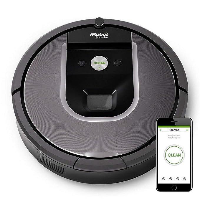 iRobot Roomba 960 - Robot Aspirador Óptimo Mascotas con Wifi y Programable por App + iRobot Braava 390T - Robot fregasuelos, con 2 modos de limpieza y 4 ...