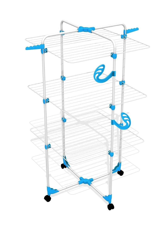Gimi Modular 3 Tendedero de Torre Modulable 71x5x132 cm Metal Blanco