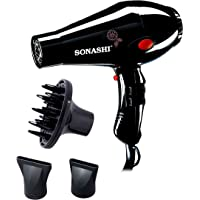 Sonashi Hair Dryer 2000 Watts, Black [SHD-3013]
