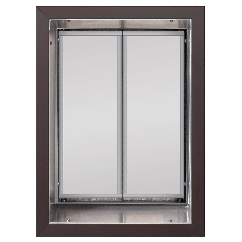PlexiDor Performance Pet Doors X-Large Bronze Wall Mount