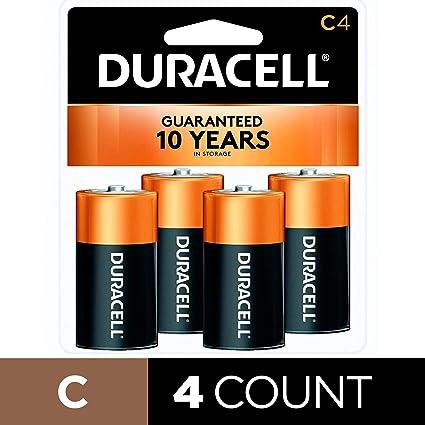 Amazon.com: Pilas alcalinas Duracell CopperTop, C-CTx4, C ...