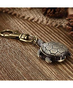 Youyoupifa Tortoise Bronze Alloy Keychain Quartz watches(Unisex)