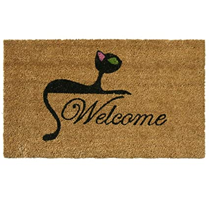 Rubber-Cal Kitty Cat Welcome Mat Cat Doormat 18 x 30-Inch  sc 1 st  Amazon.com & Amazon.com: Rubber-Cal Kitty Cat Welcome Mat Cat Doormat 18 x 30 ...