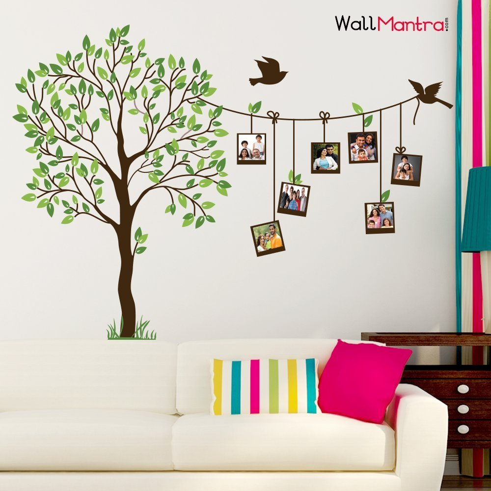Buy wall sticker trees with photo frames online at low prices in wallmantra photo frame wall sticker amipublicfo Choice Image