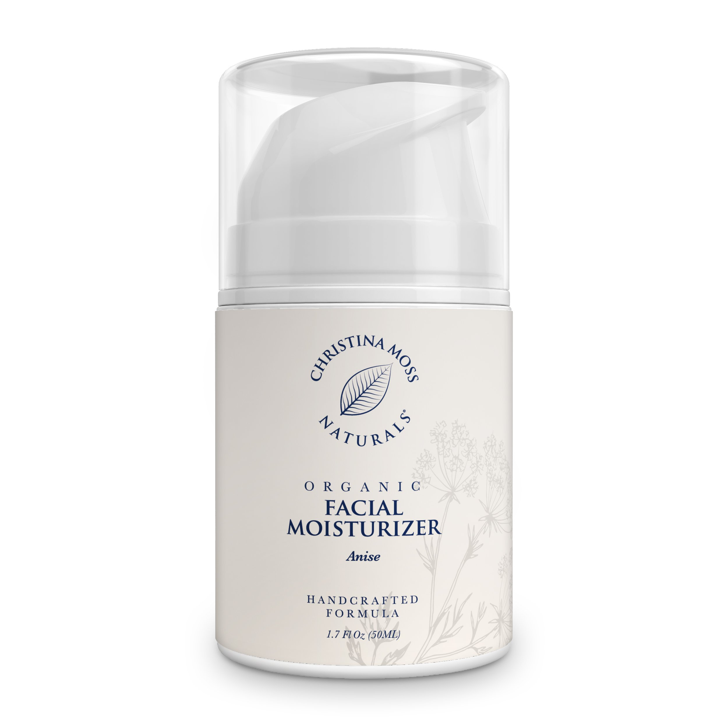 Facial Moisturizer - Organic & Natural Ingredients Face Moisturizing Cream for All Skin Types - Sensitive, Oily, Dry, Severely Dry - Anti-Aging & Anti-Wrinkle for Women & Men - Christina Moss Naturals