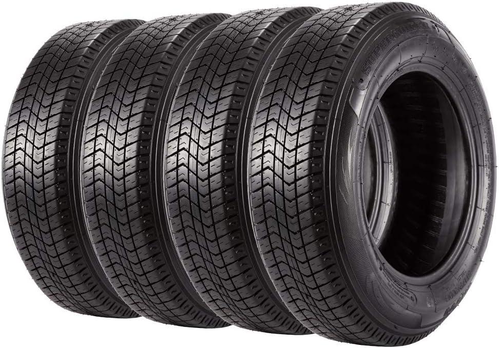 Set of 4 Trailer Tires ST175/80D13 Premium 175 80 13 6PR Tires Load Range C
