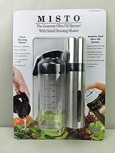 Misto Oil Sprayer & Salad Dressing Shaker-Silver