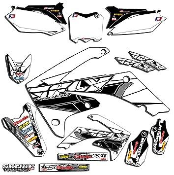 Senge Graphics Kit Compatible with Honda 2013-2018 CRF 110 Fly Racing White Graphics kit