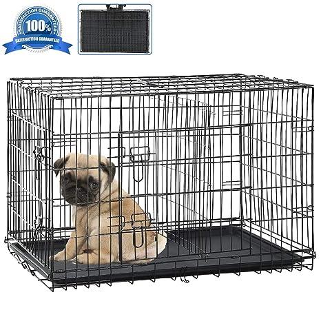 Amazon.com: Jaula para perro, plegable, portátil, de 24.0 in ...