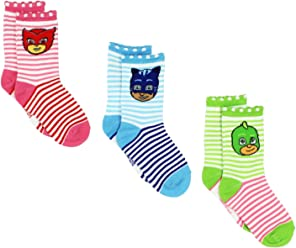 PJ Masks Boys Girls 3 pack Crew Socks (Toddler/Little Kid)