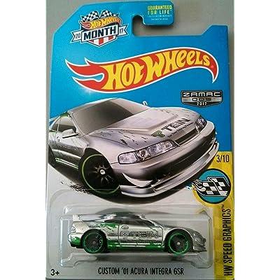 Hot Wheels 2020 HW Speed Graphics Custom '01 Acura Integra GSR 89/250, Exclusive ZAMAC: Toys & Games