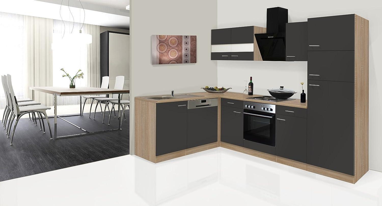 respekta Economy ángulo de l Forma de Cocina Roble Gris 280 x 172 cm Incluye Designer de Campana: Amazon.es: Juguetes y juegos