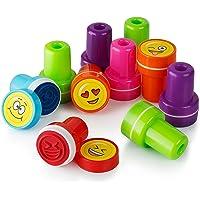 Moore Art 26 Piece Encrage En Plastique Emoji En Plastique Stampers Avec Multi Couleur Emoticône Emoji Brillant Timbres Encreurs, DIY Artisanat pour Enfants, Cadeaux De Fête