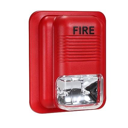 OWSOO Alarma de Incendios Advertencia Sirena Alerta Sonido ...