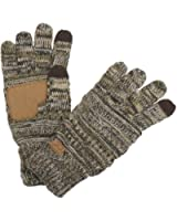 Funky Junque's C.C Beanie Matching Knit Touchscreen Texting Roomy Gloves (M, L, XL)