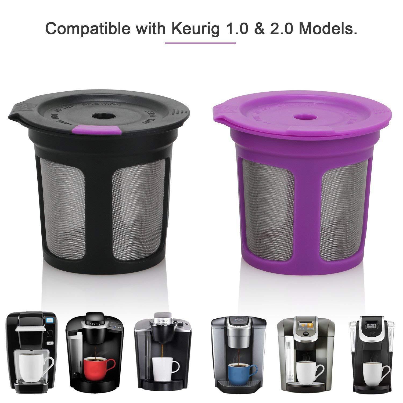 eshopcity Tazas K reutilizables para cafeteras Keurig 2.0 y 1.0 ...