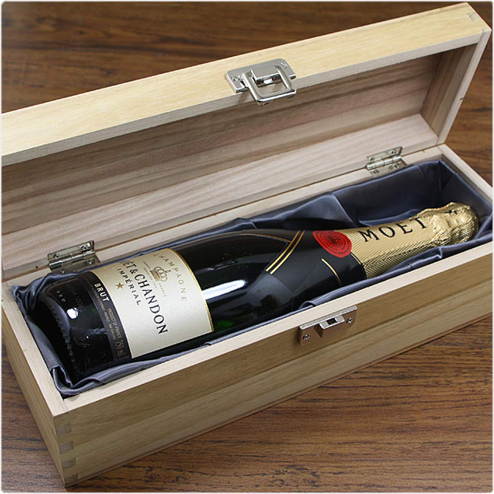 HING13 Unique Personalised 60th Anniversary Gift Luxury Wooden Wine or Champagne Box Varnished and Satin Lined