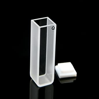 Quartz Cuvette Standard Spectrometer Cell - (10mm, 3 5ml)