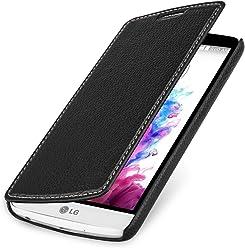 StilGut UltraSlim Case, custodia a libro in vera pelle per LG G3 Stylus, nero