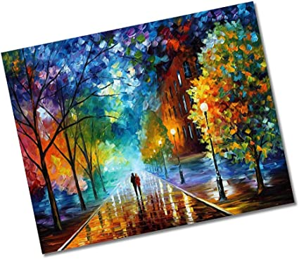 DIY Paint Scenery By Number Kit Acrylic Oil Painting Home Decor Kids Surprise