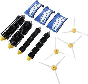 Kit de piezas de reposición 13 piezas (juego de cepillos y filtro HEPA) para aspiradora robótica iRobot Roomba 600 Series: Amazon.es: Bricolaje y herramientas
