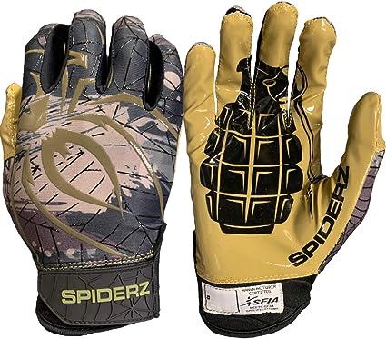 Spiderz RAW Adult Football Gloves