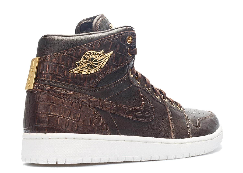 watch b16e7 51de0 Amazon.com   Nike Mens Air Jordan 1 Pinnacle Croc Baroque Brown Metallic  Gold-Metallic Summit Leather   Basketball