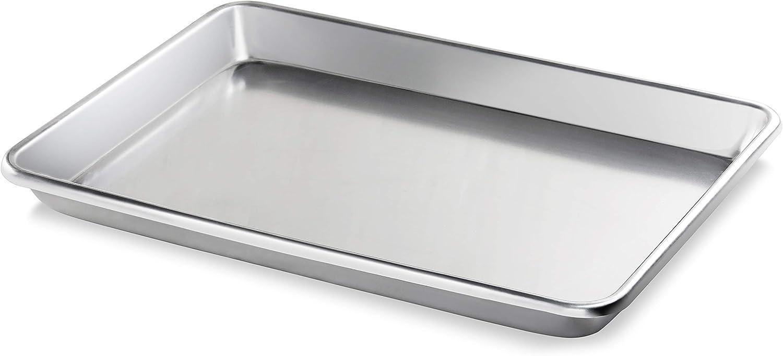 New Star Foodservice 36688 Commercial-Grade 12-Gauge Aluminum Open Bead Sheet Pan/Bun Pan, 18