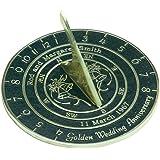 Handmade Custom Wedding & Anniversary Sundial Gift By The Metal Foundry Ltd.