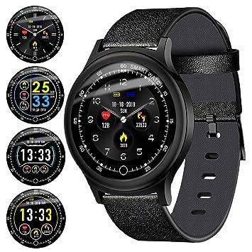 697b708127 Amazon.co.jp: スマートウォッチ 2019最新 心拍計 血圧計 活動量計 IP68 ...